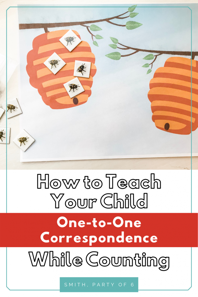 How to Teach Your Toddler One-to-One Correspondence (with 4 Free Printables!)