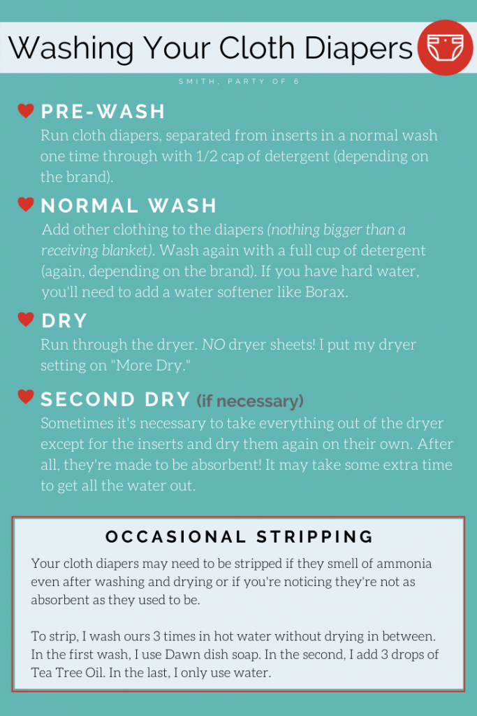 Washing Instructions for Cloth Diapers