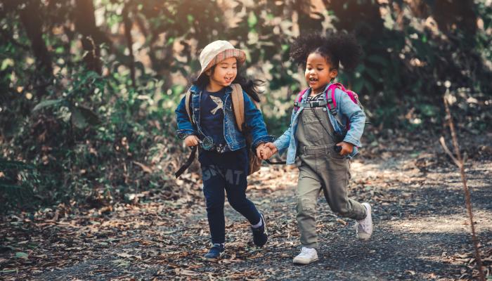 Child-led learning outdoors