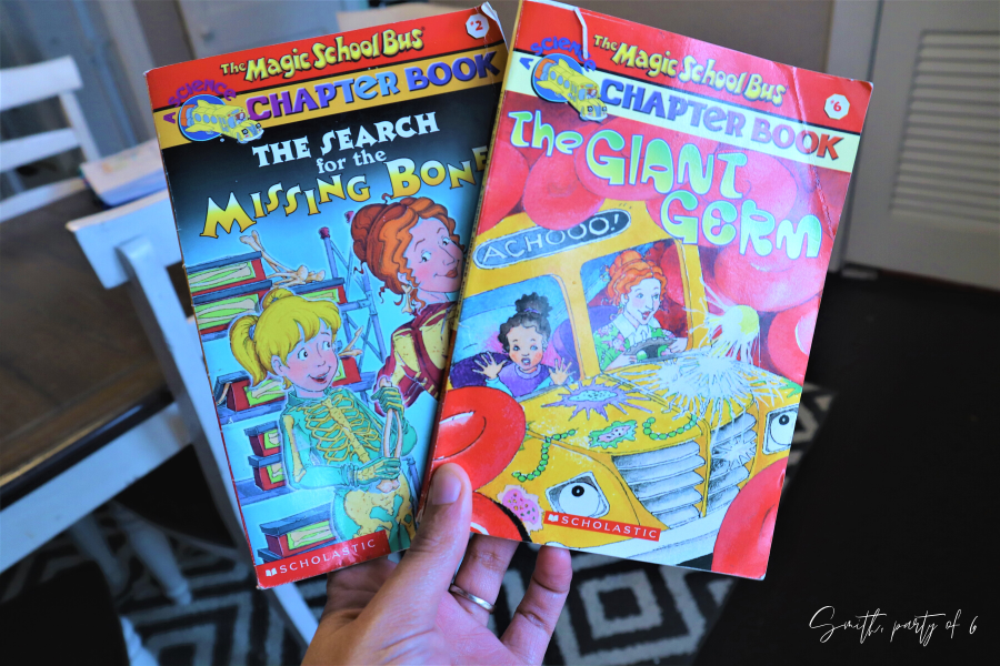 Magic School Bus Chapter Books for a Human Body Unit Study
