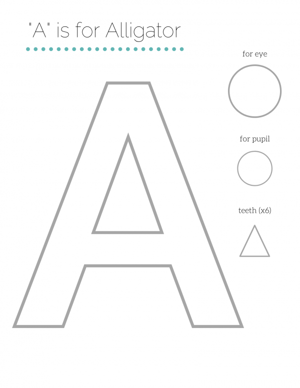 "Letter Craft Template | Uppercase ""A"""