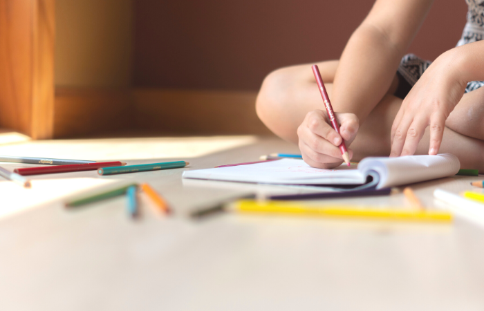 Child Writing - Independent Work for Homeschooling Multiple Children