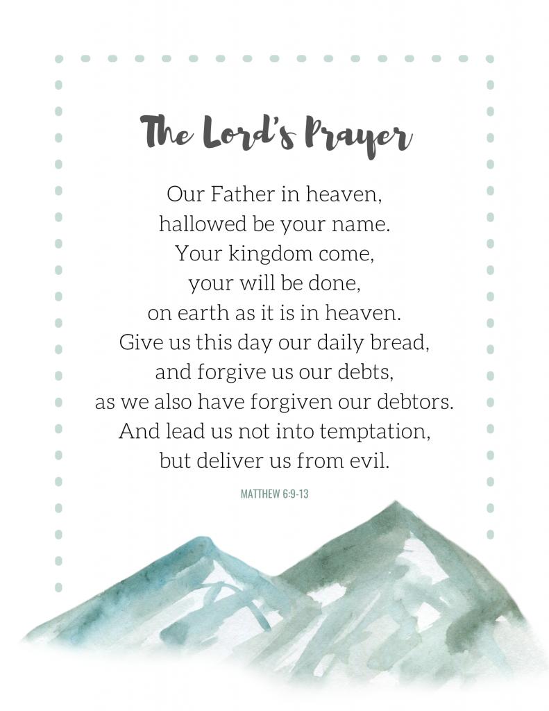 The Lord's Prayer printable